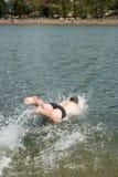 Mens onder water. Stock Foto