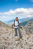 Mens op Berg Pirin Royalty-vrije Stock Afbeeldingen