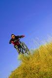 Mens op de fiets Stock Afbeeldingen