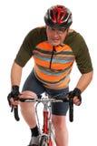 Mens op de fiets van de rasweg Stock Fotografie