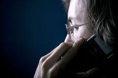 Mens op de telefoon Stock Afbeelding