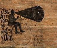 Mens op een fiets Stock Fotografie