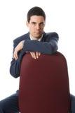 Mens op een stoel Royalty-vrije Stock Foto