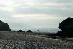 Mens op het strand Stock Fotografie