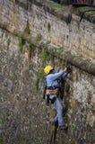 Mens op het werk, Luxemburg royalty-vrije stock foto's