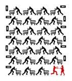 Mens op het Winkelen Reis Royalty-vrije Stock Foto's