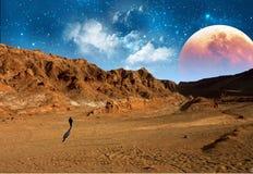 Mens op Mars Stock Afbeeldingen