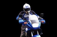 Mens op motorfiets royalty-vrije stock fotografie
