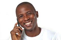 Mens op telefoon Stock Fotografie