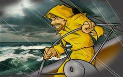 Mens op zee Royalty-vrije Stock Foto