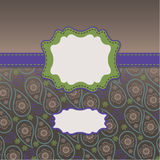Mens Paisley Design template,artwork,background Royalty Free Stock Photography