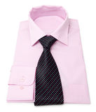 Mens pink shirt. New mens pink shirt with tie Stock Images