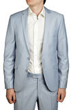 Mens Prom dress suit, Light Blue Pastel blazer and trousers. Royalty Free Stock Image