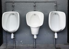 Mens public toilet Royalty Free Stock Image