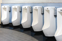 Mens public toilet Royalty Free Stock Image