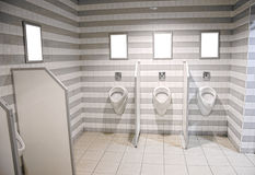 Mens public toilet Royalty Free Stock Photos
