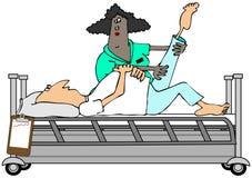 Mens in rehab stock illustratie