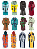 Mens robes. A set of mens robes isolated on white background Stock Photography