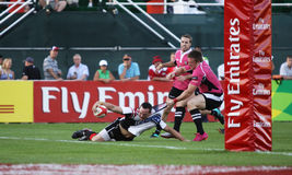 Mens Rugby Sevens Action Stock Image