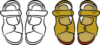 Mens sandals Royalty Free Stock Image