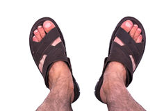 Mens sandals Stock Photography