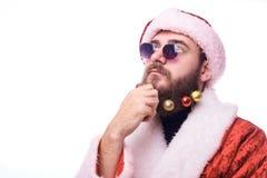 Mens in Santa Claus Costume stock foto