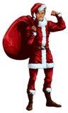 Mens in Santa Claus-kostuum Stock Foto
