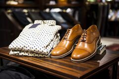 Mens shirt and shoes