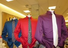 Mens shirts and ties display Royalty Free Stock Image