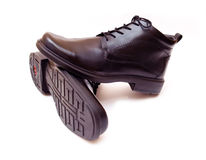 Mens shoes. Pair of elegant black men's shoes islated stock images