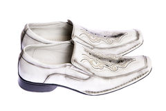 Mens shoes. Pair of mens shoes on white isolated Stock Photos