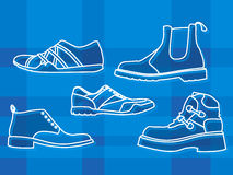 Mens shoes stock illustration