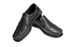 Mens shoes. Black on a white background Royalty Free Stock Photos