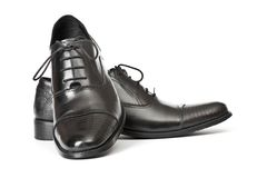 Mens Shoes. Close-up of elegant mens shoes on white background Royalty Free Stock Images