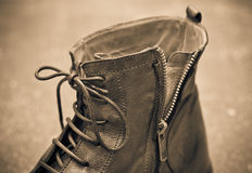 Mens shoes closeup. vintage style Royalty Free Stock Images