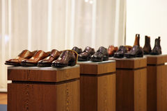 Mens shoes in a store display Stock Photo