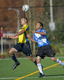 Mens Soccer head ball Royalty Free Stock Photography