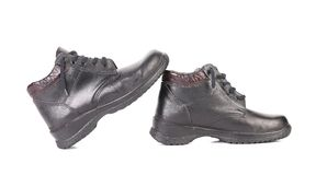 Mens sport leather shoes. Royalty Free Stock Photography