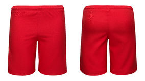 Mens sports red shorts Royalty Free Stock Images