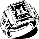 Mens Stone Ring Royalty Free Stock Image