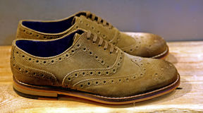 Suede shoes for men Stock Photos