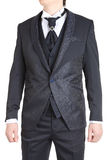 Mens Suit Groom Tuxedo Prom Clothing jacket pants vest. Royalty Free Stock Photography