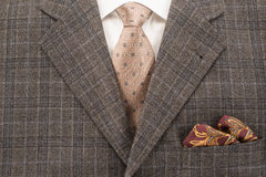 Mens Suit. Shirt, tie and handkerchief Royalty Free Stock Image