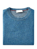 Mens sweater isolated on white. with a clipping path.  Royalty Free Stock Photography