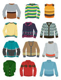 Mens sweaters. A set of mens sweaters for autumn and winter Royalty Free Stock Images