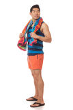 Mens in Swimwear Royalty-vrije Stock Afbeeldingen