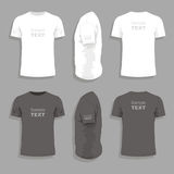 Mens t-shirt design template stock illustration