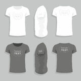 Mens t-shirt design template Royalty Free Stock Images