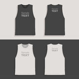 Mens t-shirt design template Royalty Free Stock Photos