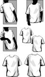 Mens T Shirts. Blank Men's T Shirts Templates Vector Royalty Free Stock Photos